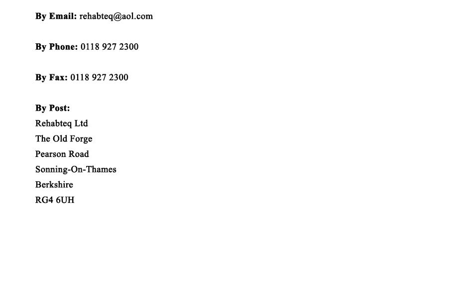 Rehabteq Contact Details