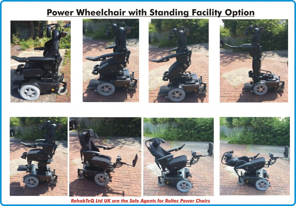 Images of a Power Wheelchair with Standing Facility Option